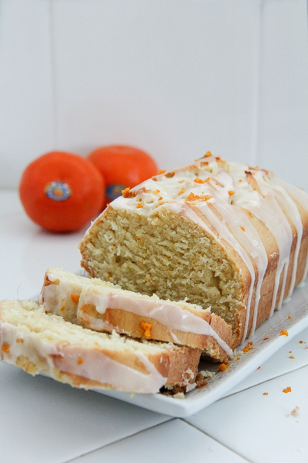 Mandarin and Coconut Loaf with a Citrus Glaze